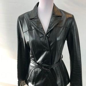 Wilson's Maxima Genuine Leather belted Jacket